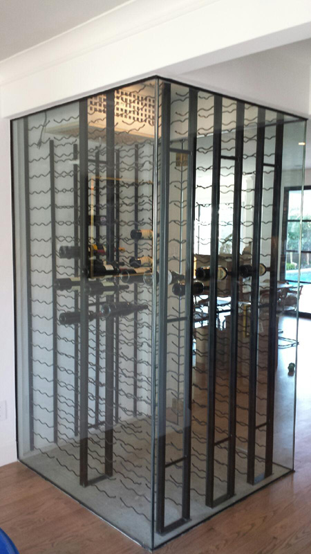 Aabc gallery of pictures custom glass wine cellars for House wine cellar